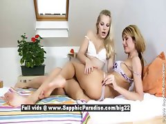 Sally and Kandy stunning lovely lesbians  licking
