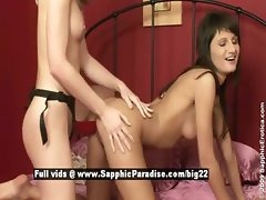 Butterfly and Mina from sapphic erotica lesbo girls toying