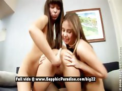 Bethany and Rose and Sasha from sapphic erotica lesbo girls fingering