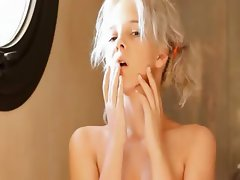 Shaving of beautiful 19yo blonde pussy