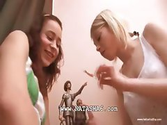 Two russian chicks playing with cunts