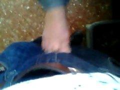 Mi muy divina amiga de nuevo acariciandome con su pies 1