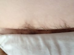 rough nipples and hairs bulging from her pantys,