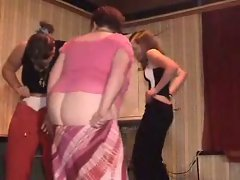 Crazy wenches showing thongs