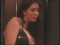 Tempting lezzy gets put over her knee and lashed