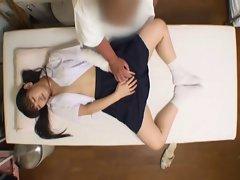 Spycam Schoolgirl climax Massage 2