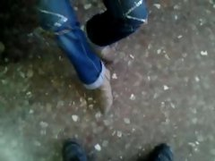Mi  muy divina amiga de nuevo acariciandome con su pies 5