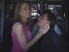 Dirty Slut With Men in a Van - Not Amateur