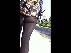 Ass walking down the street 2