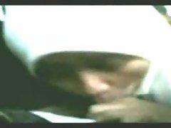 malay gf blowjob inside car