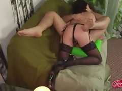 Femdom loving bitch in stockings