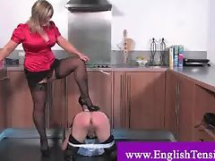 Domina whips her tv maid