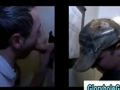 Straight guy gets tricked into blowjob by gay guy in gloryhole