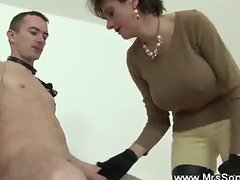 Equestrian domina trains her stud