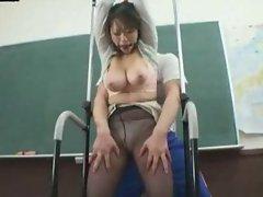 Big Tits Female Teacher Wearing a Blouse 2