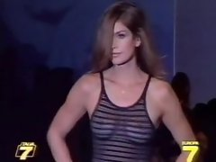 Cindy Crawford Sheer Top On Runway Reloded