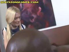 Teen Blonde Cheerleader is Black Curious