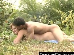 Dick swinging in the jungle