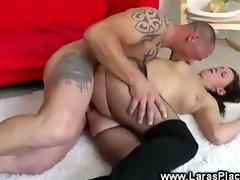 Mature lady takes a hard pounding