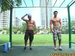 Hot hetero hunks get outed in public part3
