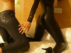 Sexy couple in Leather pants - bostero