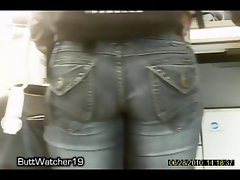 BIG BUTT ASS EBONY CANDID BOOTY VOYEUR JEANS
