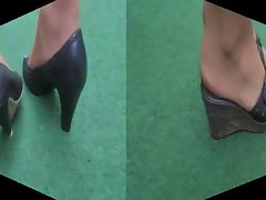 Feet Show Stockings Heels Pumps Foot Fetish X30