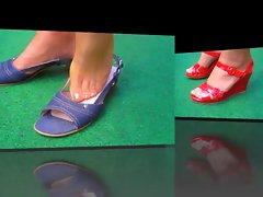 Heels-Show Stockings Foot Fetish Nylons X32