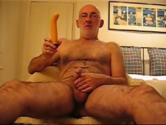 Master Wanker having fun with a dildo