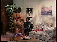 Black BBW fucked in her gigantic ass.