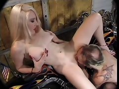 Classic Hot Cougar Banging Biker