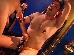 Shemale torturing horny guy