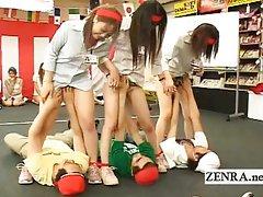 Strange Japan office group oral sex game