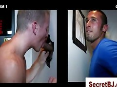 Gay straight amateur gloryhole blowjob