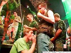 Tight twinks in mega orgy in club
