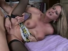 Cougar begs for cock deep and hard