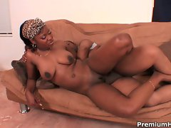 Black ebony maid miss simone gets massive shaft
