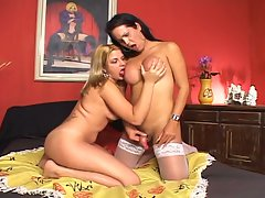 Hot shemale lesbians with finhnets and busty bodies