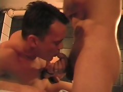 Massage turns into a cock in both ends for this gay boy