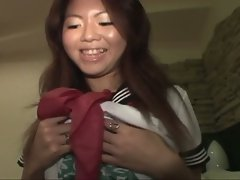 Asian cutie gets teased and fucked