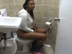 Clips of these different ebony babes taking a pee