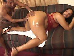 Bbbw 7-fatty ebony horny babe by a big black dick.
