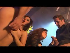 Sex party has beautiful babes taking on big cocks