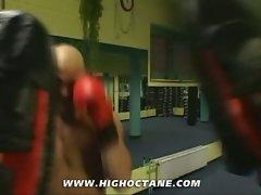 Ass-fuckinig after a hot workout