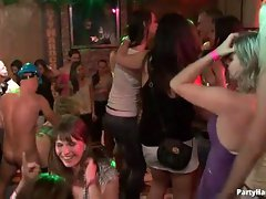 Horny young bitches and dudes in a sex party