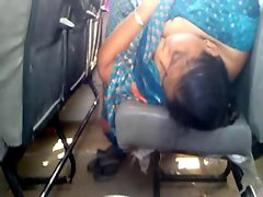 Indian BBW woman voyeur in bus