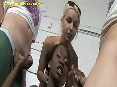 White Gangbang for Horny Black Girl
