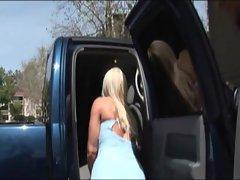 Blonde milf having interracial sex at home