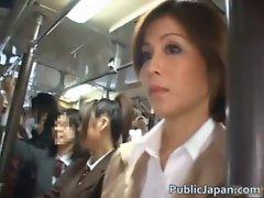 Asian babe has public sex jav