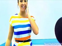 Gorgeous raven teen seduces a guy at the office